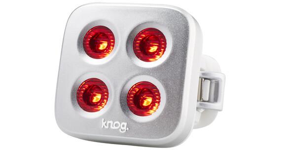 Knog Blinder MOB The Face Baglygte 1 røde LED, Standard sølv